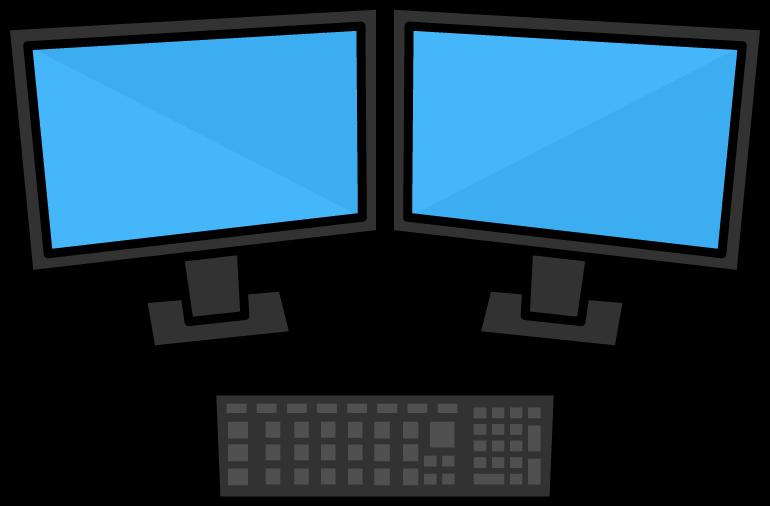 デュアルモニターによる業務効率化