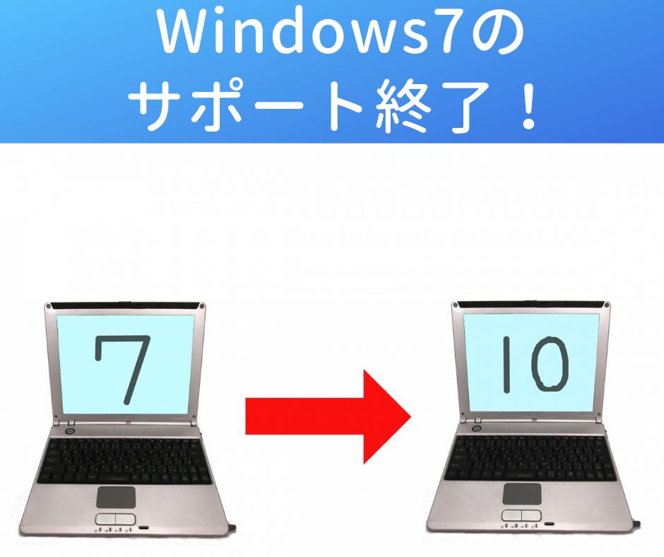 Windows7のサポートが終了するまでにやっておくべきこと!
